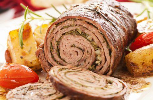 Rollè di manzo, secondo piatto ricco e scenografico