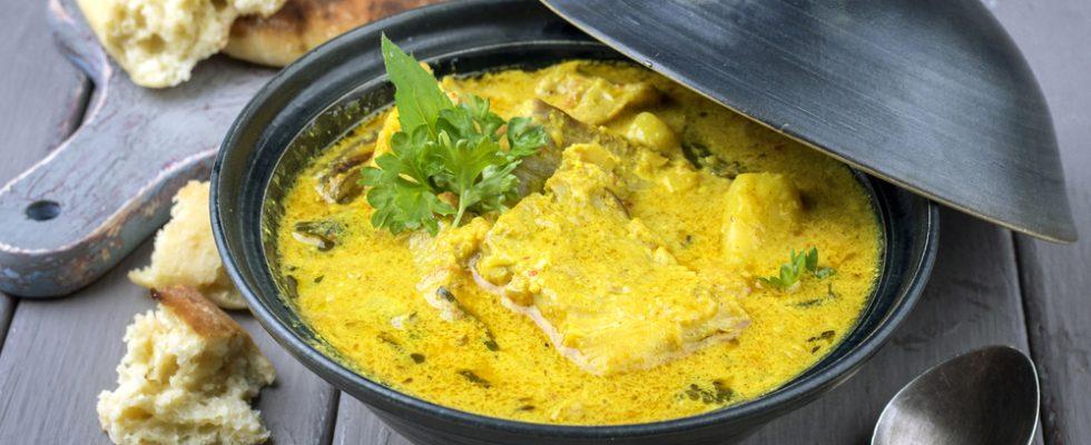Pesce con curry: piatto indiano
