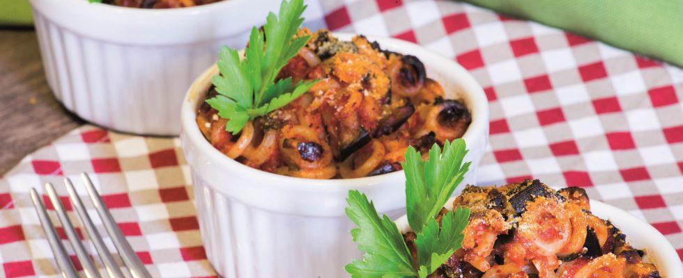 Anelletti alla siciliana vegani, un primo piatto invitante