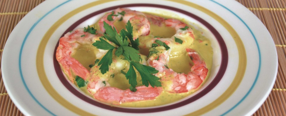 Code di gambero in salsa allo zafferano fatte al bimby: per la cena