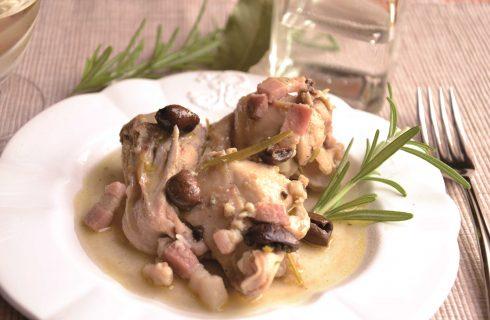 Coniglio alla grappa: secondo gustoso con il bimby