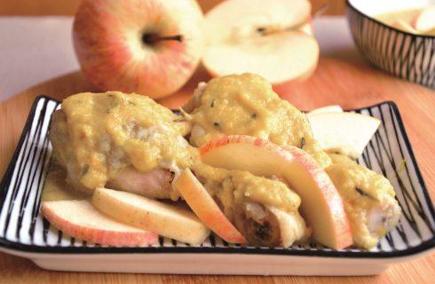 Per l'autunno: cosce di pollo con le mele da fare con il bimby