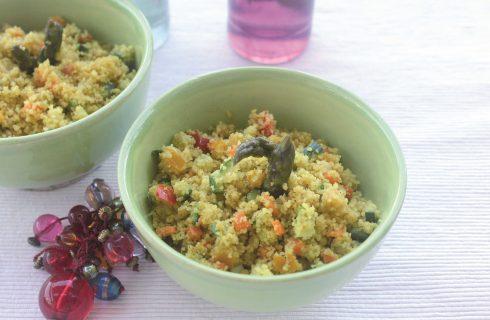 Cous cous vegetariano speziato, cucina mediorientale con il bimby