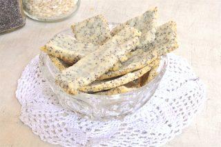 Crackers al riso con semi di papavero da fare al bimby