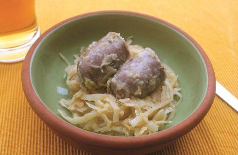 Crauti e salsicce con semi di finocchio: con il bimby