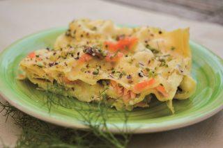 Lasagne al salmone e pistacchi: primo ricco da fare con il bimby