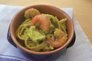 Esotiche: linguine con gamberi e avocado con il bimby