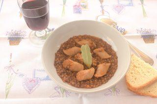 Luganega con lenticchie: secondo con contorno con il bimby