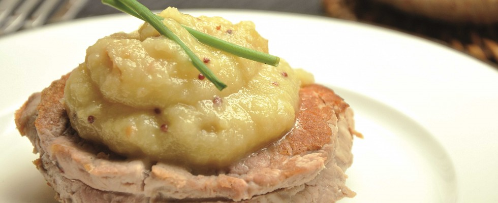 Ricette autunnali: maiale in salsa di mele, al bimby
