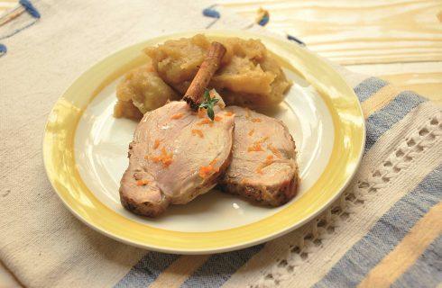 Maiale speziato con purea di patate, semplice con il bimby