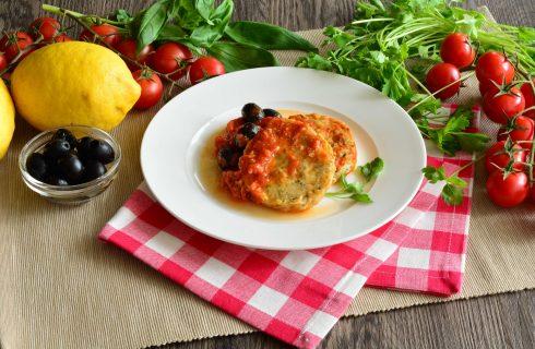 Medaglioni di merluzzo al pomodoro e olive: fateli con il bimby