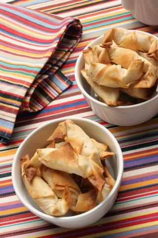 Mini croissant salati con prosciutto e formaggio, facili con il bimby