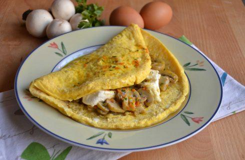 Omelette ai funghi, da preparare con il bimby