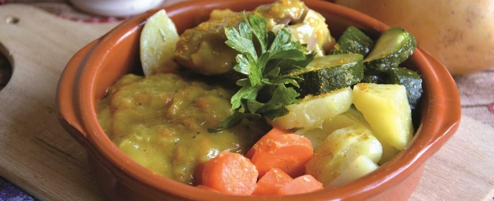 Bimby: ecco l'ossobuco al curry con verdure al vapore
