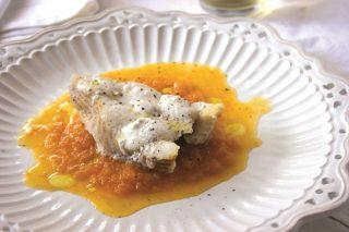 Palombo su purea di carote: preparatelo con il bimby