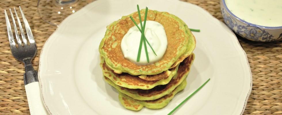 Pancake salati con pancetta ed erba cipollina, preparateli con il bimby