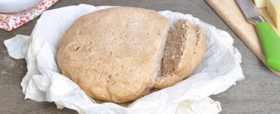 Pane sciapo con farina integrale, da fare con il bimby