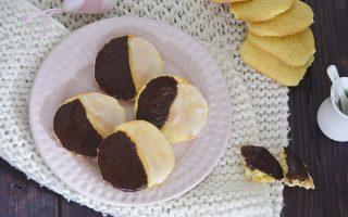 Black and White Cookies: frollini bicolore