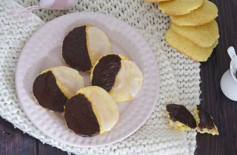 Black and White Cookies: frollini bicolore