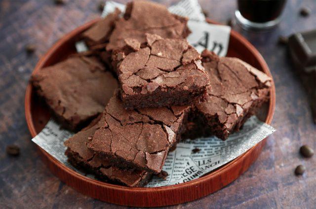 brownie al caffè