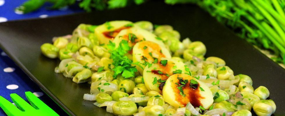 Fave con patate al balsamico: contorno primaverile