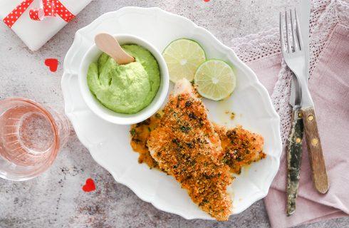 Filetti di merluzzo con salsa di avocado: secondo invitante