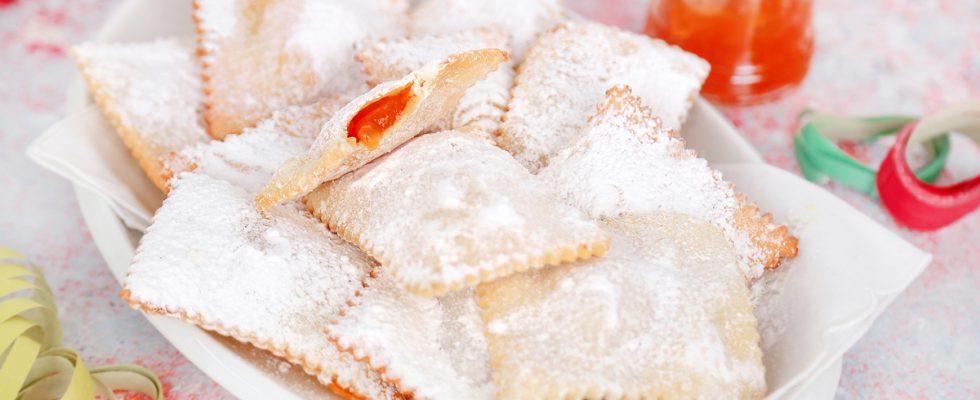 Frappe ripiene di marmellata: irresistibili