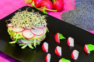 Insalata Romea: mele, ravanelli e zucchine