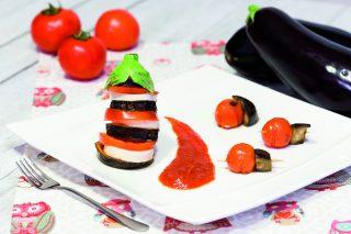 Parmigiana di melanzane scomposta: non si cuoce in forno