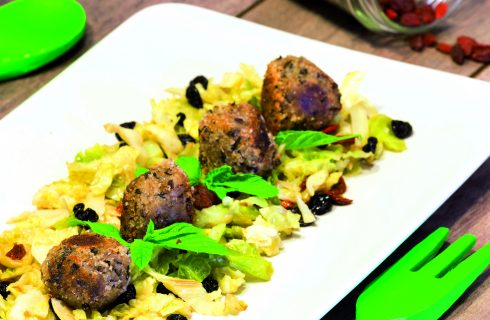 Polpette di lenticchie nere e grano saraceno: cucina vegan