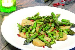 Seitan con asparagi: secondo vegano