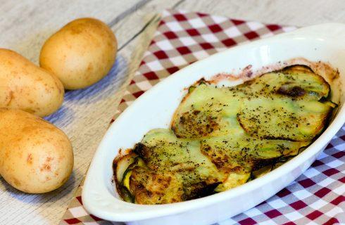 Sformato di patate e zucchine vegano: contorno di verdure