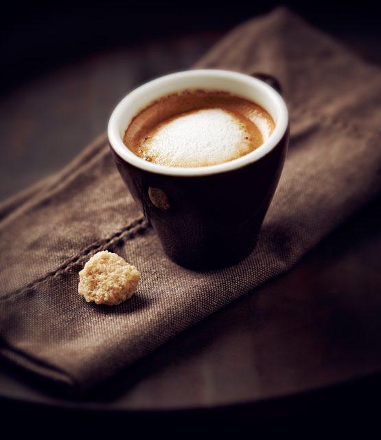 schiuma nel caffè
