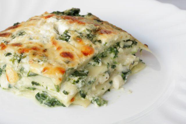 lasagna gorgonzola e spinaci