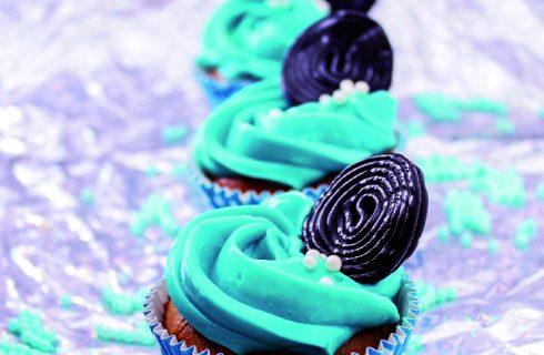 Cupcake alla liquirizia, per il buffet di carnevale