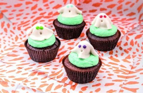 Cupcake fantasmini, per Halloween