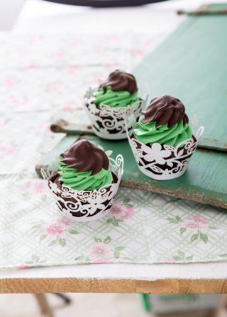 Cupcake menta e cioccolato: per San Patrizio