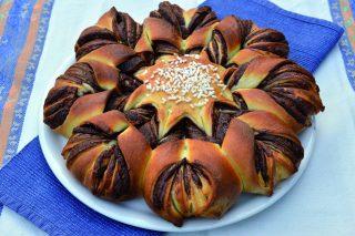 Fiore al cioccolato con bimby, un girasole con crema gianduia