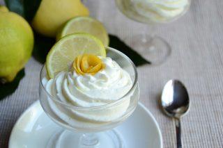 Panna al profumo di limoni, realizzata con il bimby