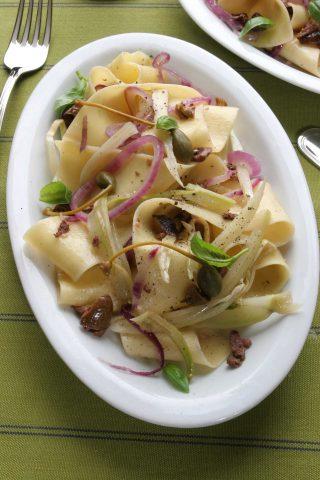 Bimby: ecco le pappardelle con finocchi e olive