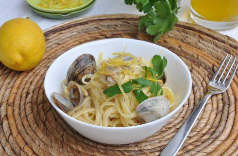 Pasta vongole e limone, la ricetta con il bimby