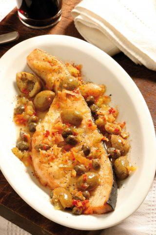Pesce spada con capperi e olive: la versione con il bimby