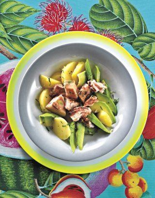 Pesce spada patate e avocado è facile con il bimby