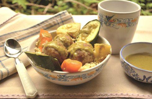Bimby, ricette estive: polpette di carne con cous cous e verdure