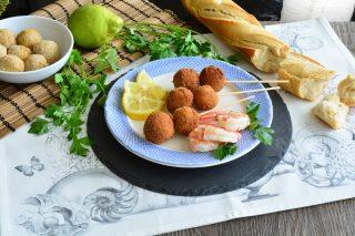 Polpette di gamberi, antipasto di pesce con il bimby
