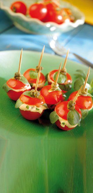 Bimby: pomodorini ripieni di crema al tonno