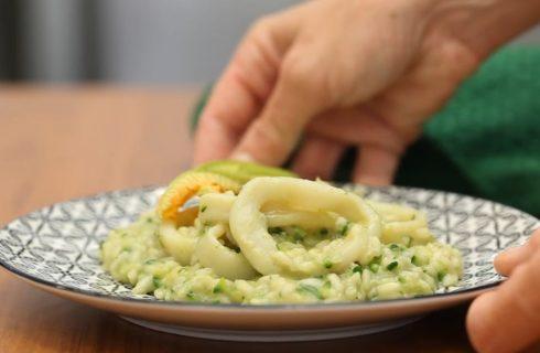 Risotto zucchine e calamari, per le giornate calde