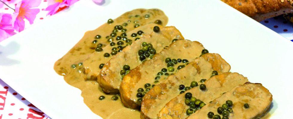 Tempeh al pepe verde: secondo vegano