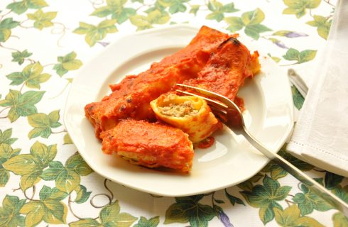 Cannelloni ripieni di ricotta e carne con il Bimby