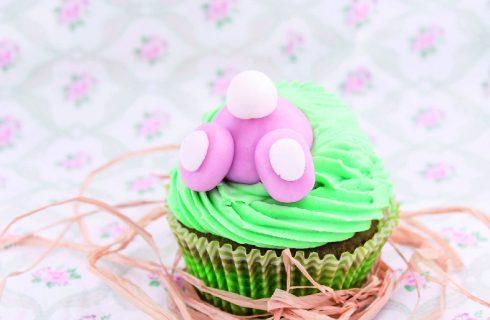 Cupcake al pistacchio: con coniglietto pasquale